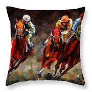 Opening Day Throw Pillow by Debra Hurd