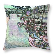 Opening Day Of Boating Throw Pillow