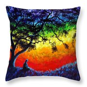 Opening The Chakras Meditation Throw Pillow