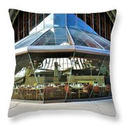 Opera House Cafeteria Throw Pillow