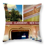 Opera House Claremont Nh Throw Pillow