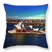 Opera House Sydney Austalia Throw Pillow