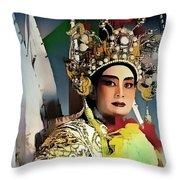 Opera Warrior Throw Pillow