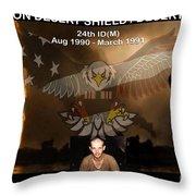 Operation Desert Shield/storm Throw Pillow