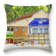 Opie's Snowball Stand Throw Pillow