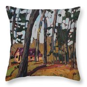 Opinicon Cabin Through The Oaks Throw Pillow