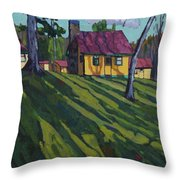 Opinicon Cottages In Autumn Throw Pillow