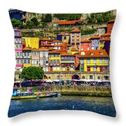 Oporto By The River Throw Pillow