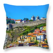 Oporto Citadel Throw Pillow