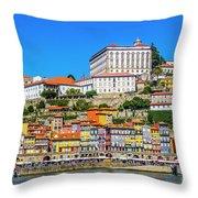 Oporto Riverfront Throw Pillow
