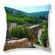 Oppede France - Street View Throw Pillow