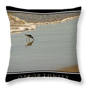 Opportunity Inspirational Throw Pillow