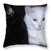 Opposites Throw Pillow