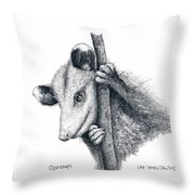 Virginia Opposum Throw Pillow