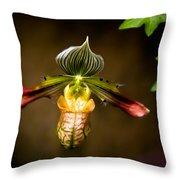 Oprah's Orchid Throw Pillow