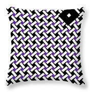 Optical Illusion Purple Black Flag 4. Throw Pillow