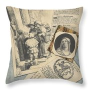 Optical Illusion With Prints And Pamphlets, L. Groskopf, C. 1746 Throw Pillow