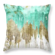 Opulence Turquoise Throw Pillow