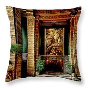 Opulent Lobby Sce Throw Pillow