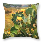 Opuntia In Bloom Throw Pillow