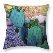 Opuntia Throw Pillow