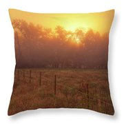 Oranage Dawn Throw Pillow