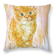 Orange .  Throw Pillow