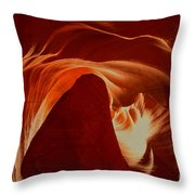Orange Abstract At Upper Antelope Throw Pillow