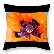 Orange After The Rain Throw Pillow