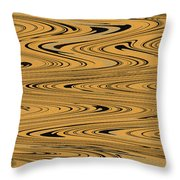 Orange And Black Abstract Throw Pillow