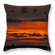 Orange And Black Throw Pillow