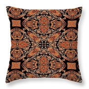 Orange And Black Mask Throw Pillow