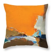 Orange And Brown Composition Throw Pillow