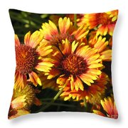 Orange And Gold  Throw Pillow