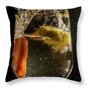 Orange And Lemon Spalsh Throw Pillow