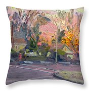 Orange And Pink Sunset Throw Pillow