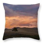 Orange And Purple Cloud Landscape Throw Pillow