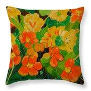 Orange And Yellow Days Throw Pillow