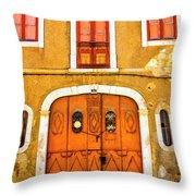 Orange And Yellow Throw Pillow