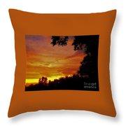 Orange And Yellow Sunset Throw Pillow