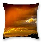 Orange Arizona Throw Pillow