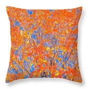 Orange Autumn Impression Throw Pillow
