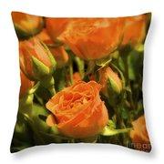 Orange Beauties Throw Pillow