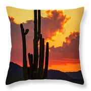Orange Beautiful Sunset  Throw Pillow