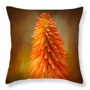 Orange Blast In The Garden Throw Pillow