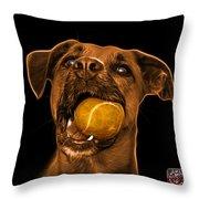 Orange Boxer Mix Dog Art - 8173 - Bb Throw Pillow