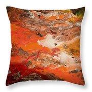 Orange-brown Series No. 3 Throw Pillow