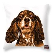 Orange Cocker Spaniel Pop Art - 8249 - Wb Throw Pillow