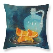 Orange Complement Throw Pillow