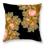 Orange Corals Throw Pillow